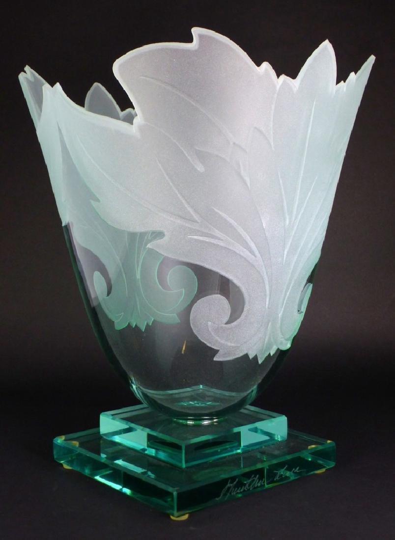 GUNTHER LUNA ART GLASS VASE - 2