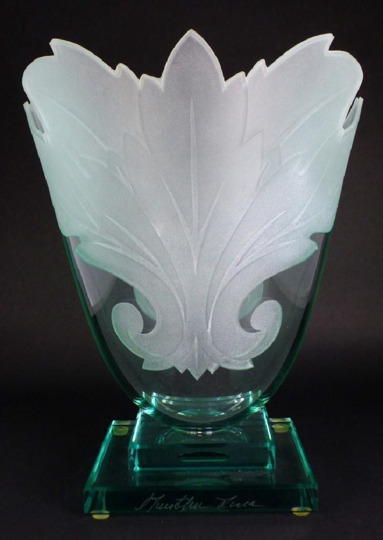 GUNTHER LUNA ART GLASS VASE - 3