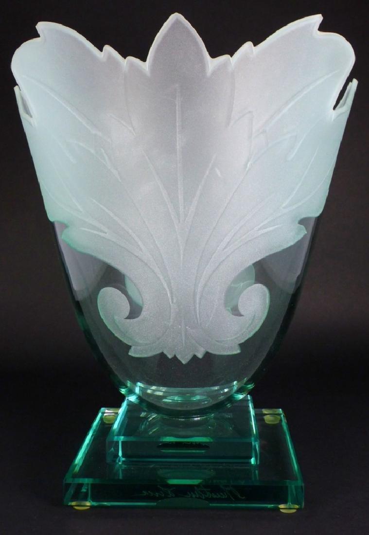 GUNTHER LUNA ART GLASS VASE - 5