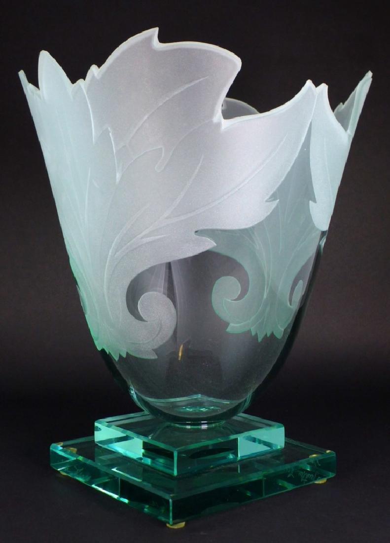 GUNTHER LUNA ART GLASS VASE - 6