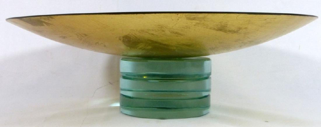 SALVATORE POLIZZI STUDIO ART GLASS FOOTED BOWL - 6