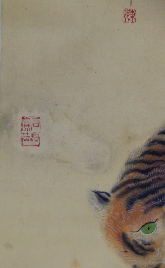 CHINESE SCROLL PAINTING IMMORTAL w TIGER - 4