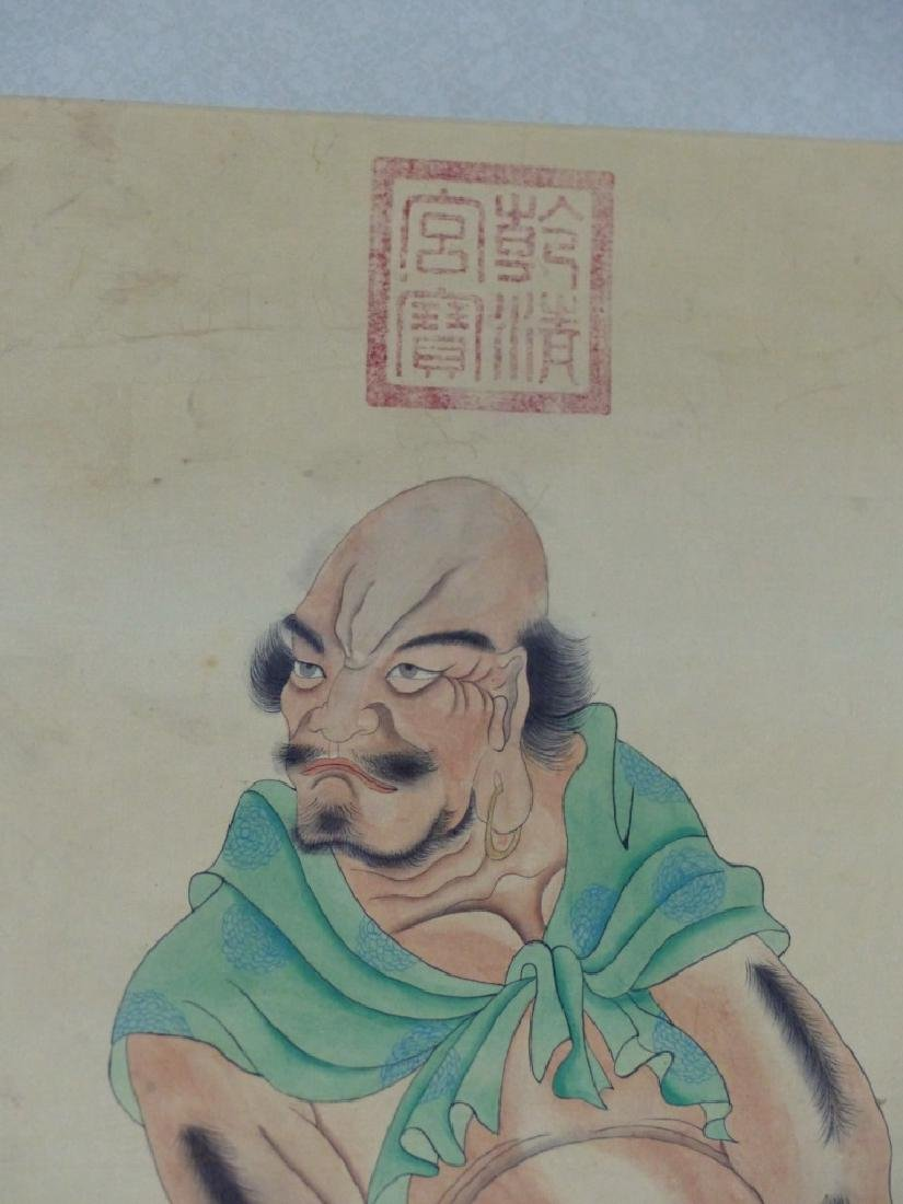 CHINESE SCROLL PAINTING IMMORTAL w TIGER - 6