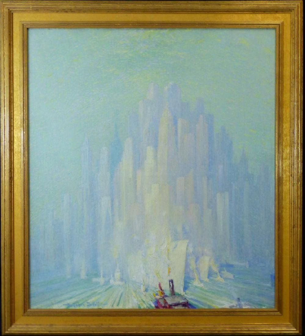 FREDERICK DE VOLL OIL PAINTING ON CANVAS NEW YORK