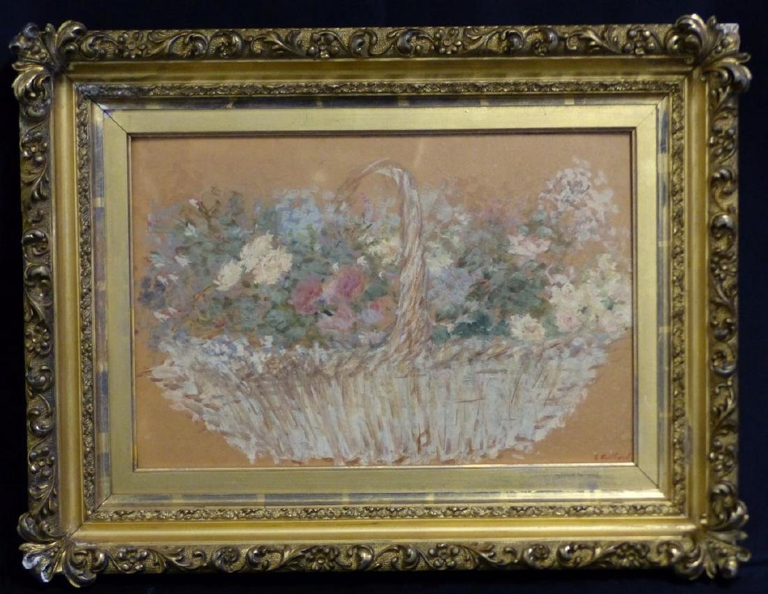 EDOUARD VUILLARD STILL LIFE OIL PAINTING ON BOARD