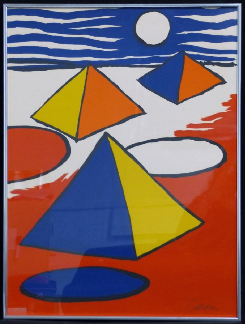 ALEXANDER CALDER 'PYRAMIDS AT NIGHT' LITHOGRAPH