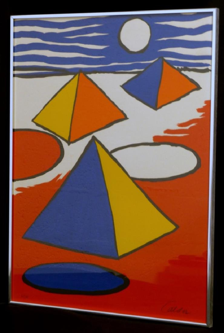 ALEXANDER CALDER 'PYRAMIDS AT NIGHT' LITHOGRAPH - 2