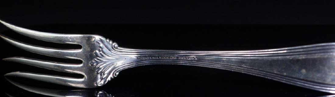 TIFFANY & CO 'COLONIAL' STERLING SILVER MEAT FORK - 5