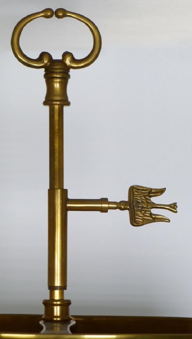 PR BRASS DOLPHIN FORM BOUILLOTTE TABLE LAMPS - 4