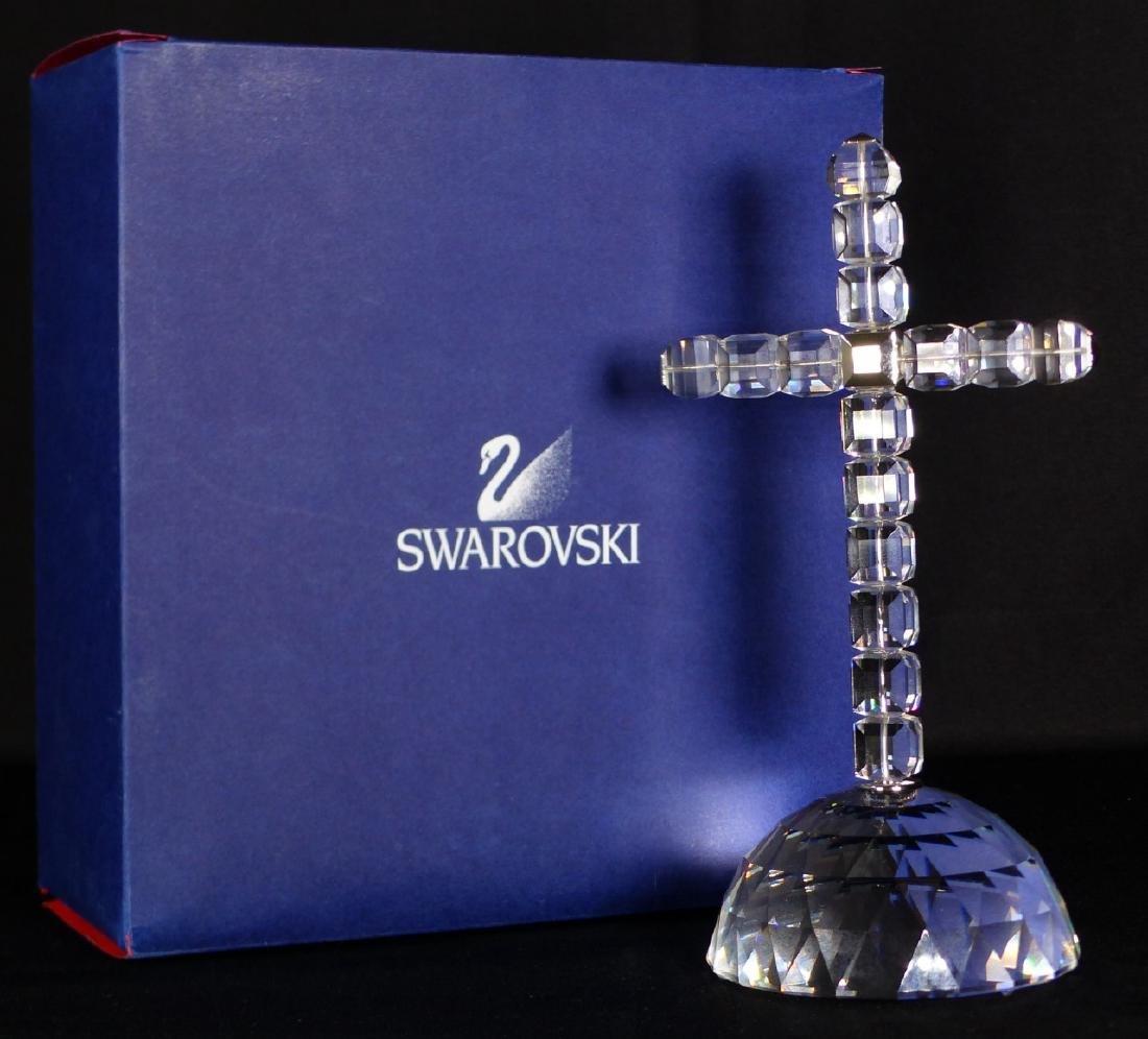 SWAROVSKI CRYSTAL CROSS OF LIGHT FIGURE w BOX - 7