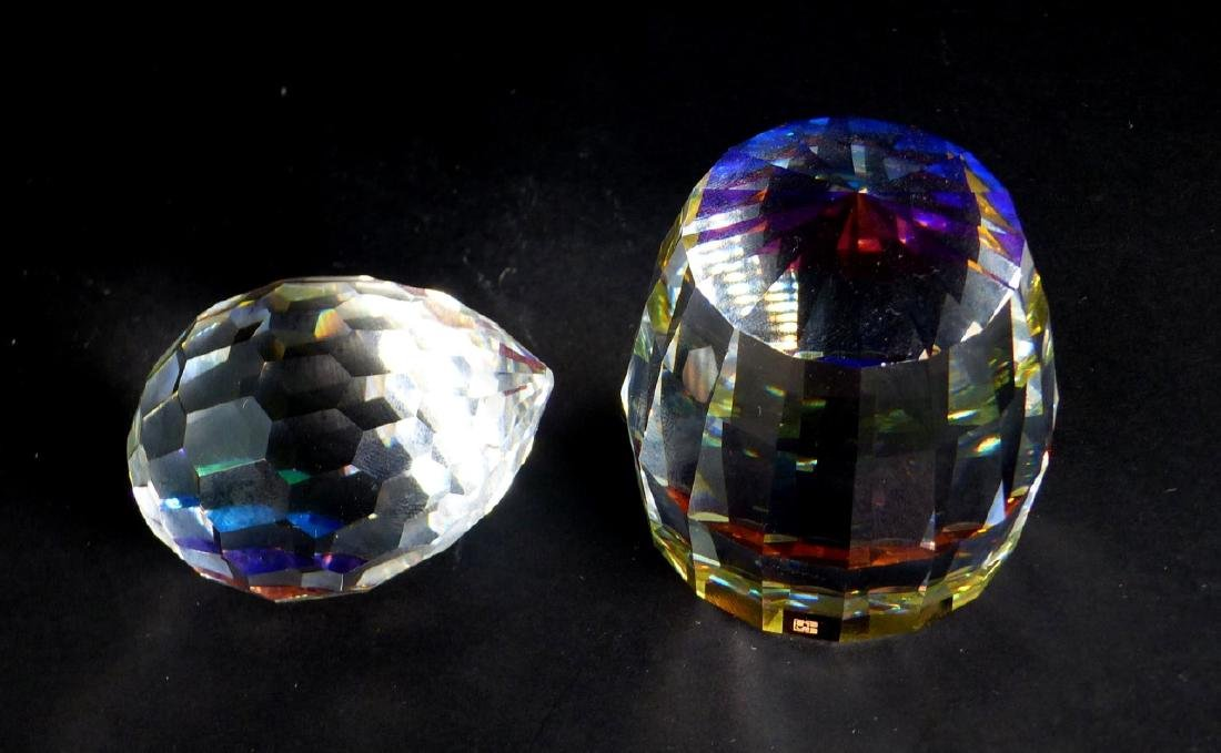 2pc SWAROVSKI CRYSTAL PAPERWEIGHTS
