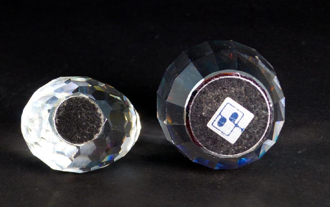 2pc SWAROVSKI CRYSTAL PAPERWEIGHTS - 4