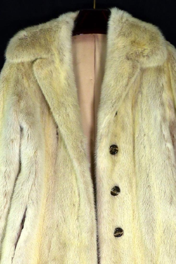 VINTAGE CREAM MINK FUR COAT HALF LENGTH - 2