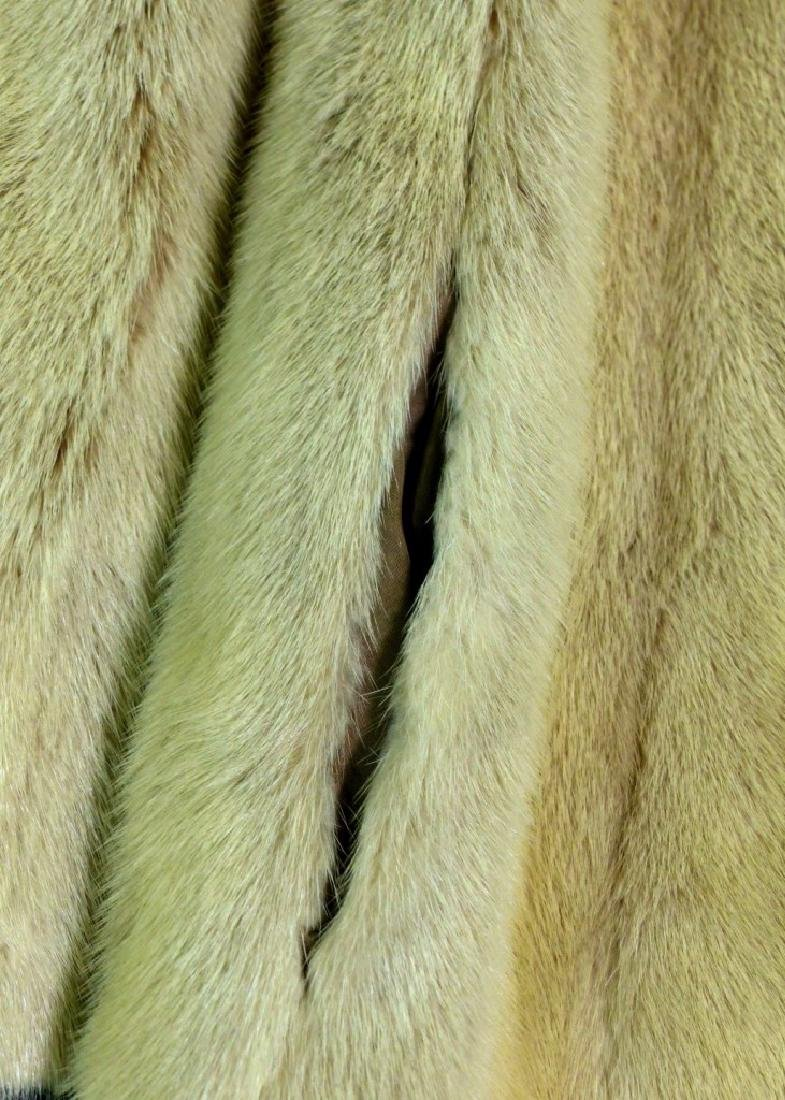 VINTAGE CREAM MINK FUR COAT HALF LENGTH - 6