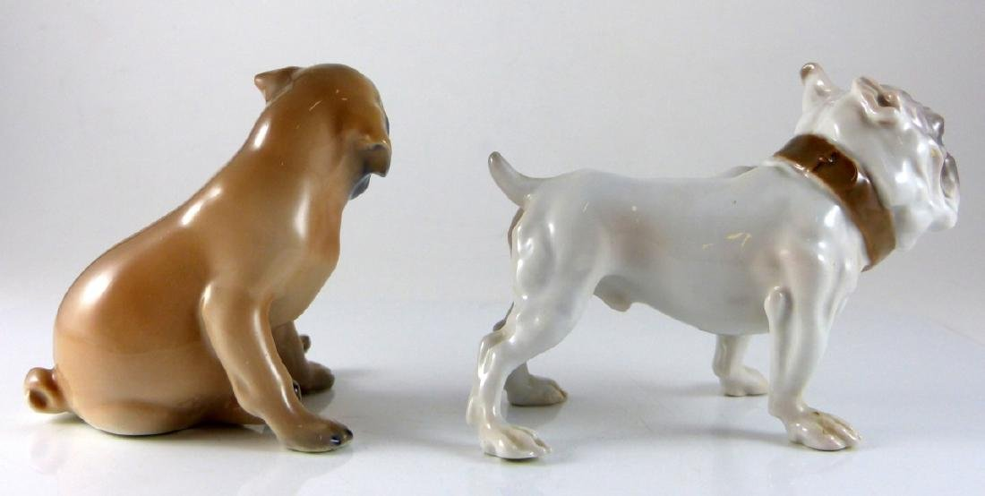 2pc COPENHAGEN PORCELAIN DOGS PUG & BULLDOG - 4