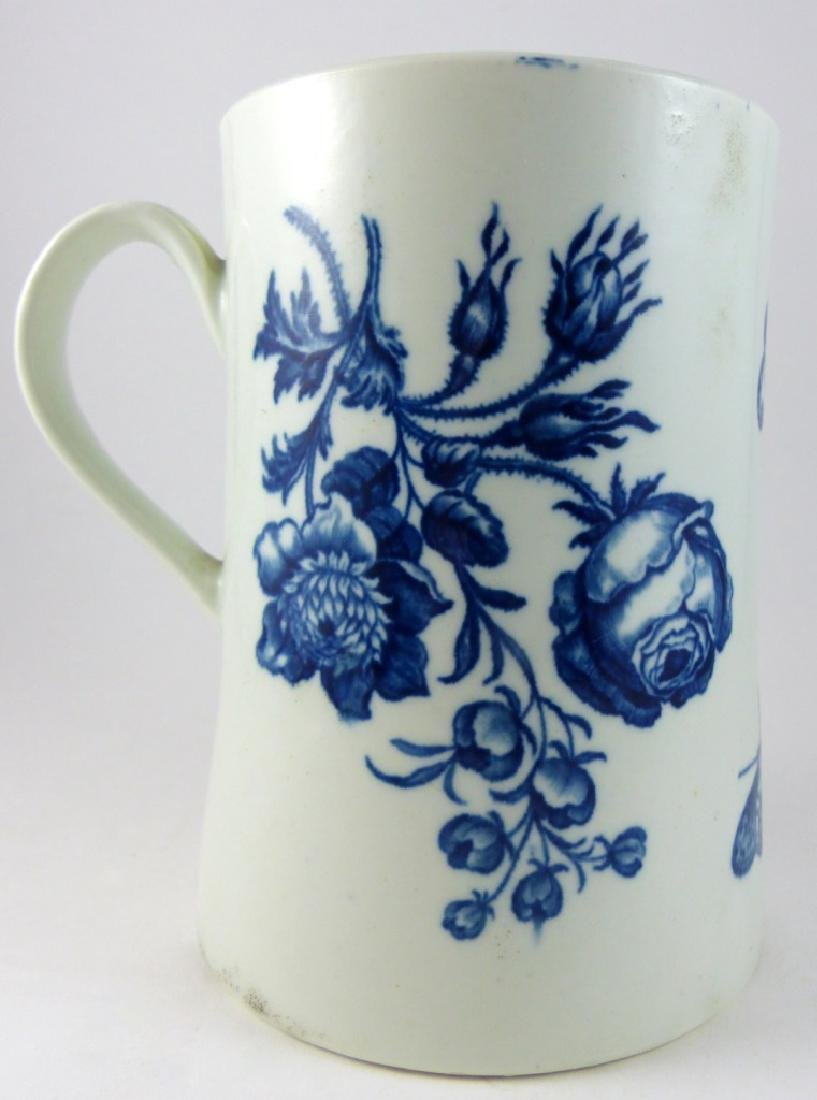 WORCESTER DR. WALL BLUE & WHITE PORCELAIN MUG