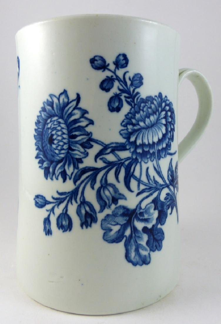 WORCESTER DR. WALL BLUE & WHITE PORCELAIN MUG - 3