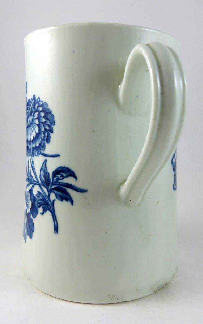 WORCESTER DR. WALL BLUE & WHITE PORCELAIN MUG - 4
