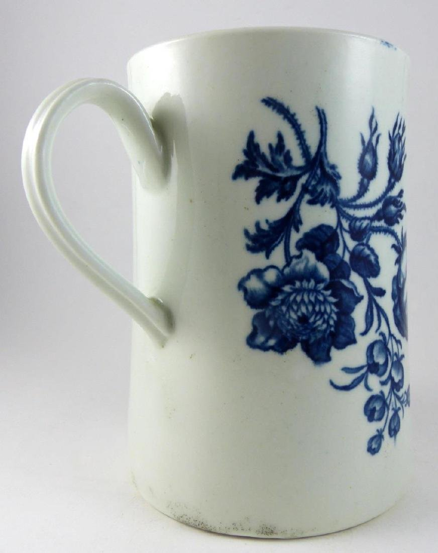 WORCESTER DR. WALL BLUE & WHITE PORCELAIN MUG - 5