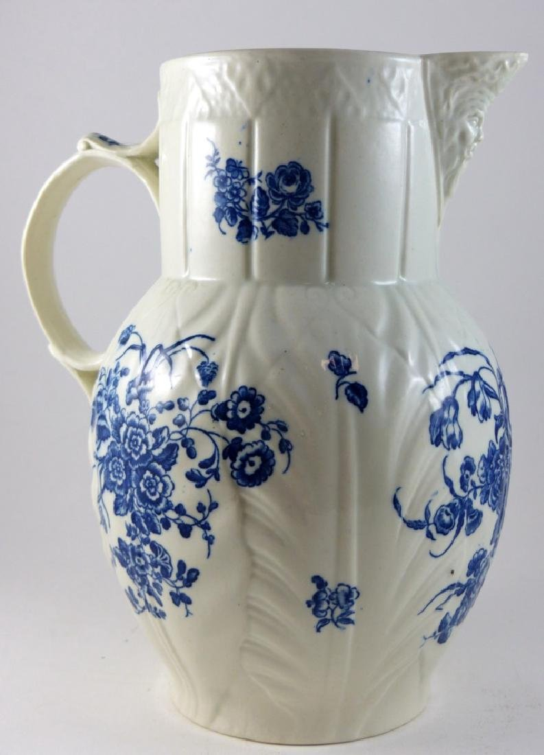 WORCESTER DR. WALL BLUE & WHITE PORCELAIN PITCHER - 5