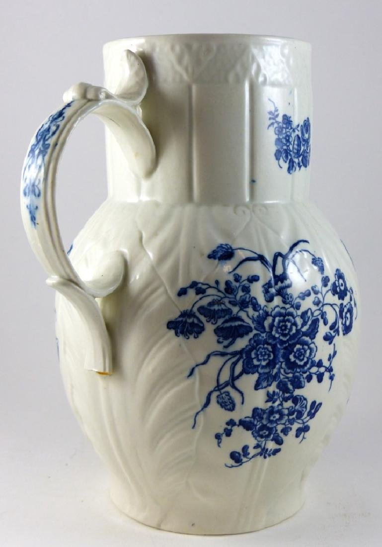 WORCESTER DR. WALL BLUE & WHITE PORCELAIN PITCHER - 6