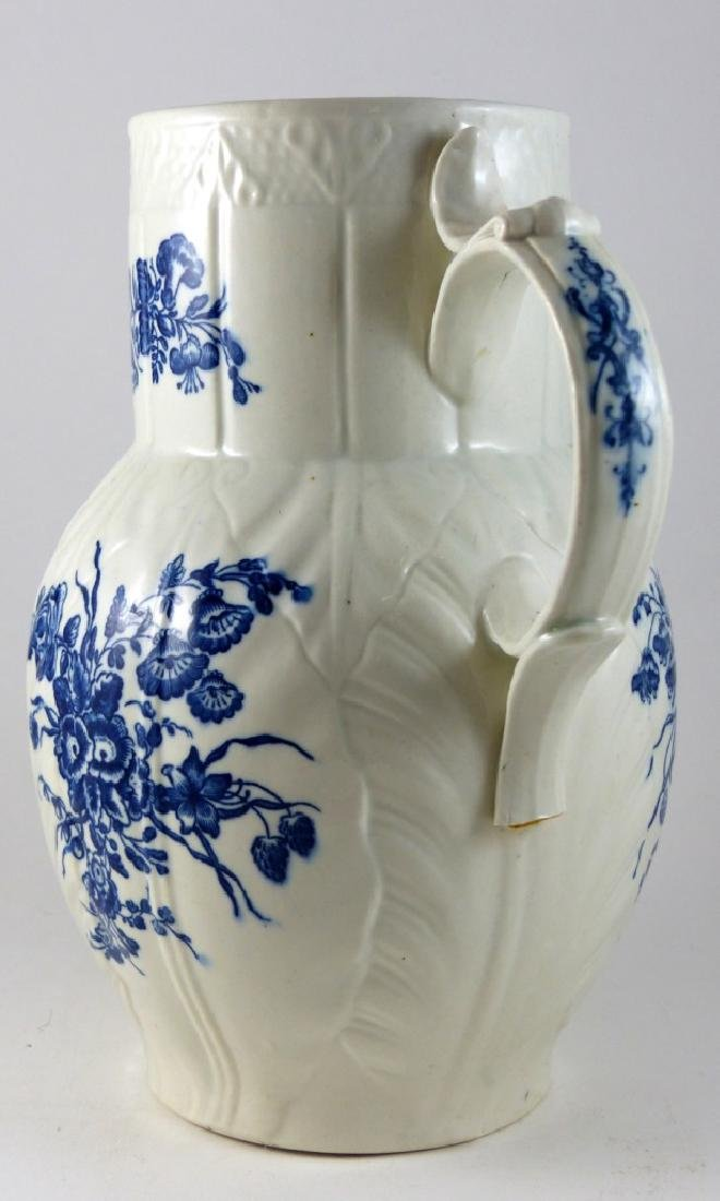 WORCESTER DR. WALL BLUE & WHITE PORCELAIN PITCHER - 7