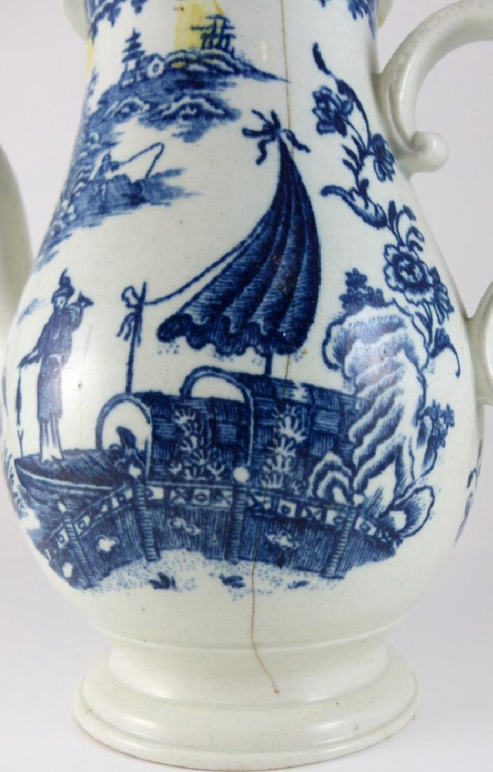 WORCESTER DR. WALL BLUE & WHITE PORCELAIN COFFEE - 5