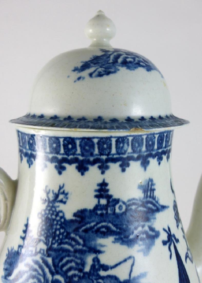 WORCESTER DR. WALL BLUE & WHITE PORCELAIN COFFEE - 7