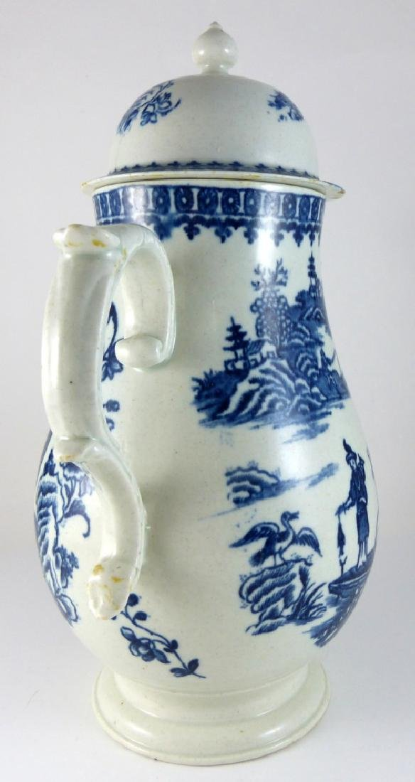 WORCESTER DR. WALL BLUE & WHITE PORCELAIN COFFEE - 8