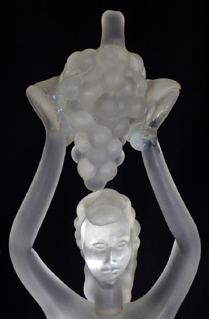 MURANO GLASS NUDE FEMALE HOLDING GRAPES - 3