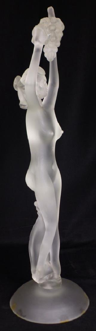 MURANO GLASS NUDE FEMALE HOLDING GRAPES - 4