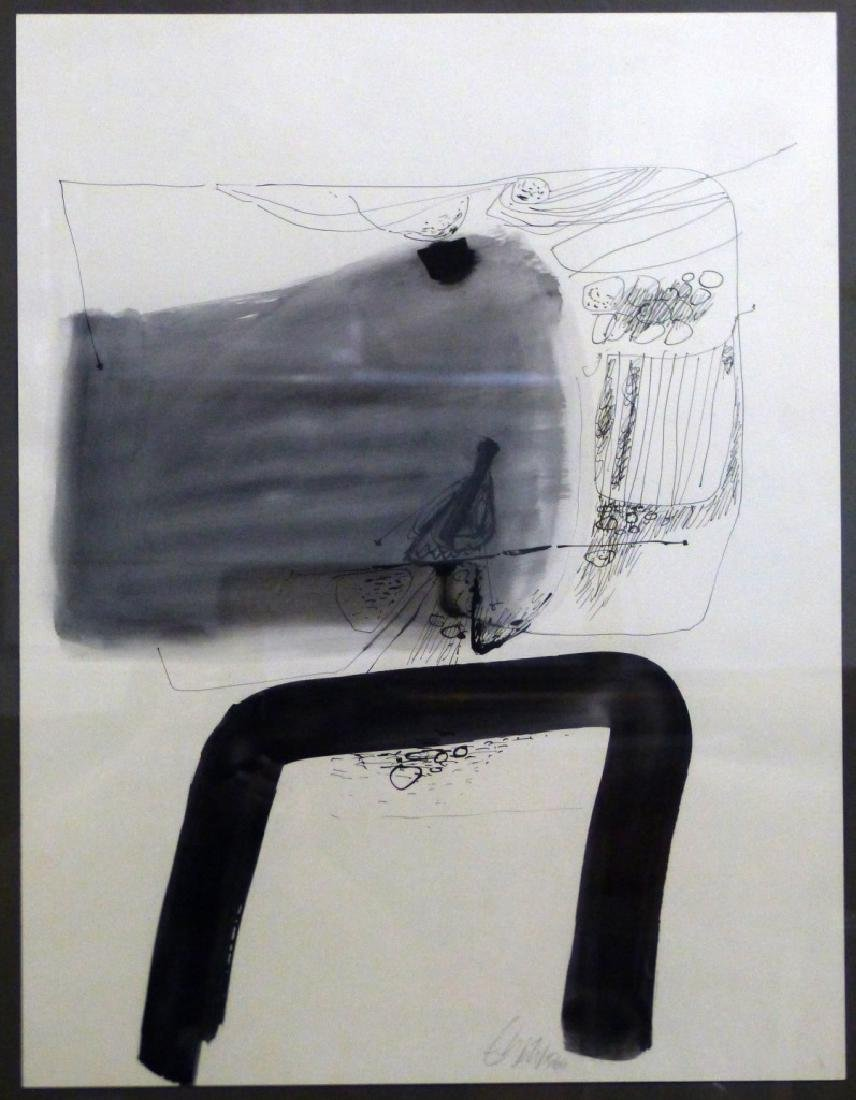 ERNST WILD TEMPERA & INK DRAWING ON PAPER - 2