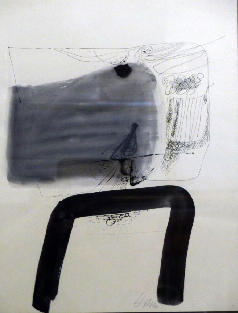 ERNST WILD TEMPERA & INK DRAWING ON PAPER - 3