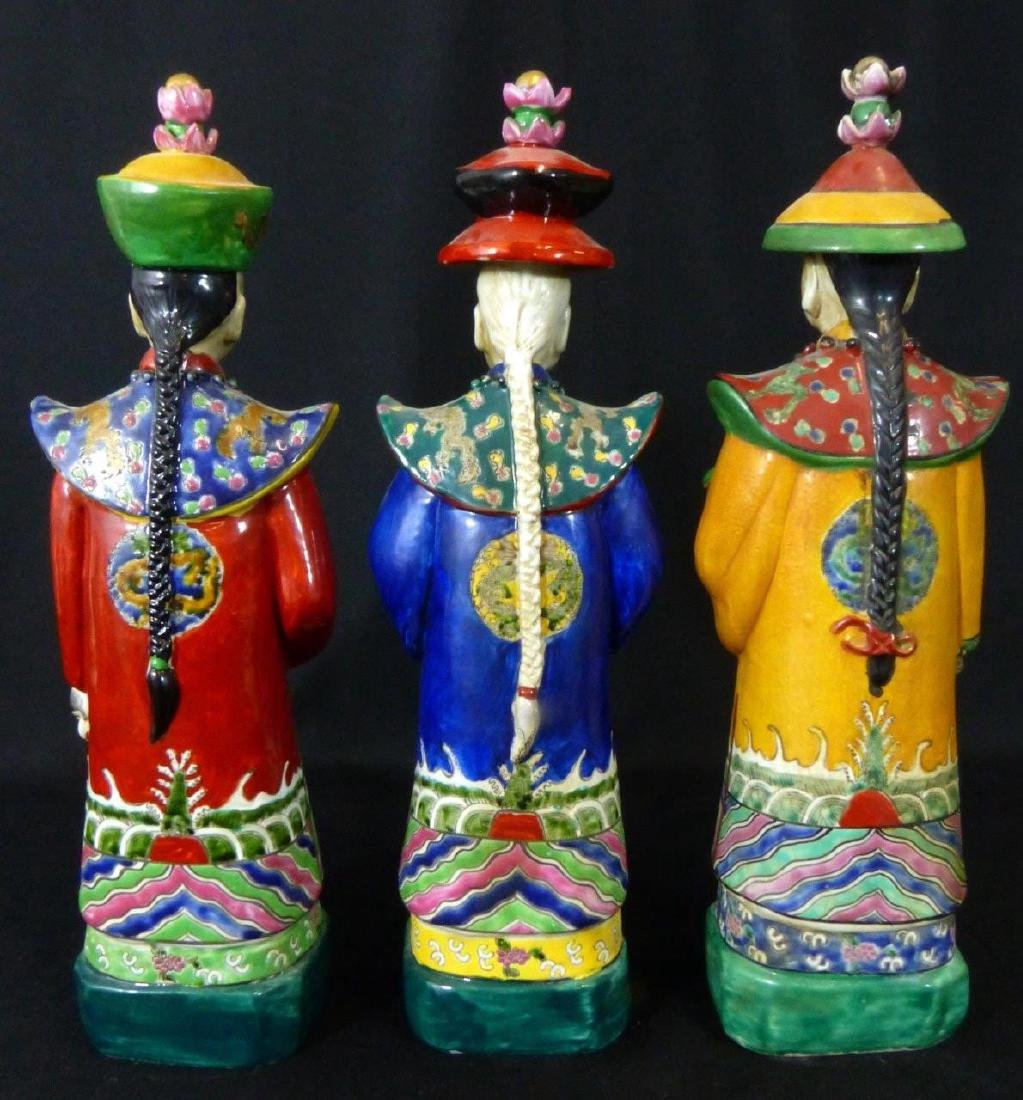 3pc CHINESE PORCELAIN WISEMAN FIGURINES - 3