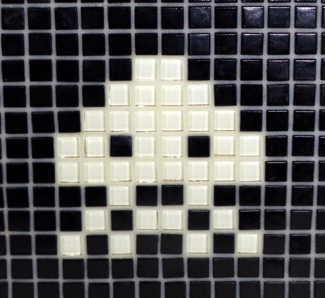 SPACE INVADER MOSAIC TILE PLAQUE SIGNED