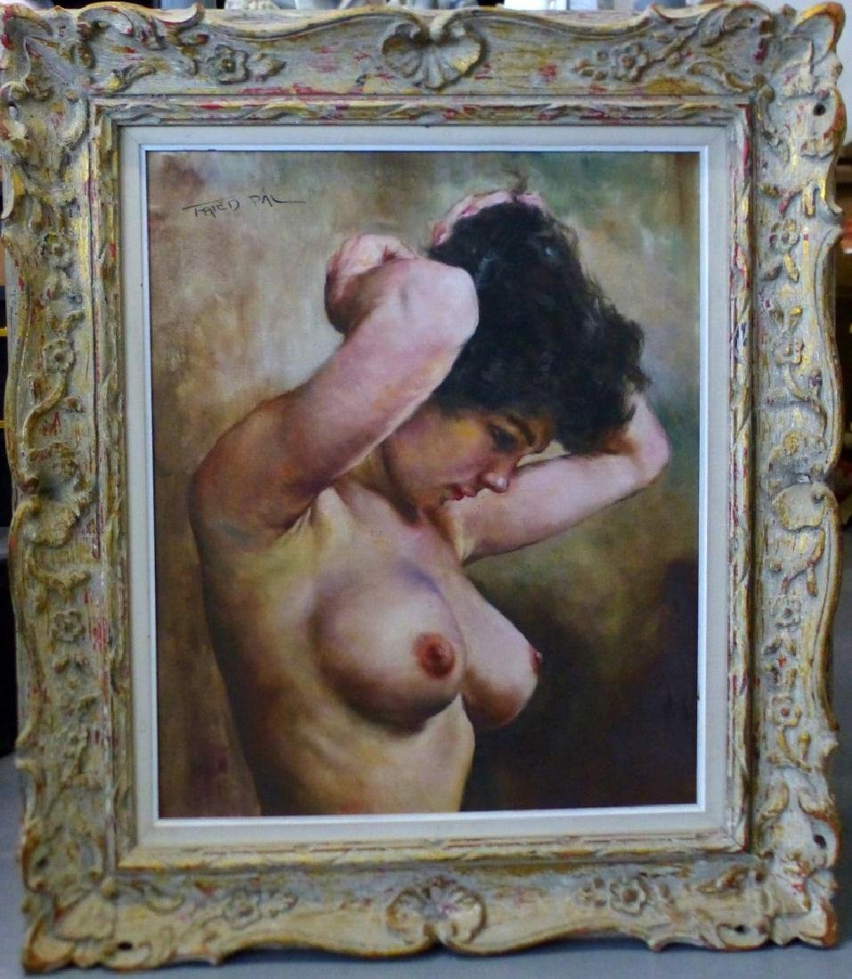 PAL FRIED OIL PAINTING ON CANVAS NUDE FEMALE