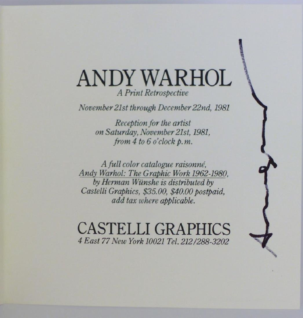 ANDY WARHOL 'MARILYN' CASTELLI INVITATION SIGNED - 7