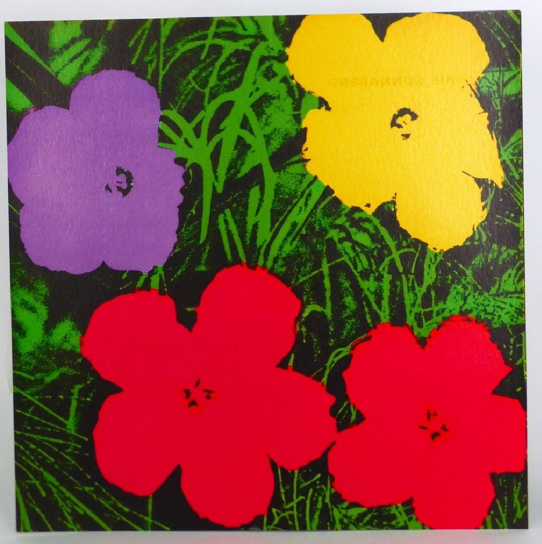 ANDY WARHOL FLOWERS INVITATION SONNABEND