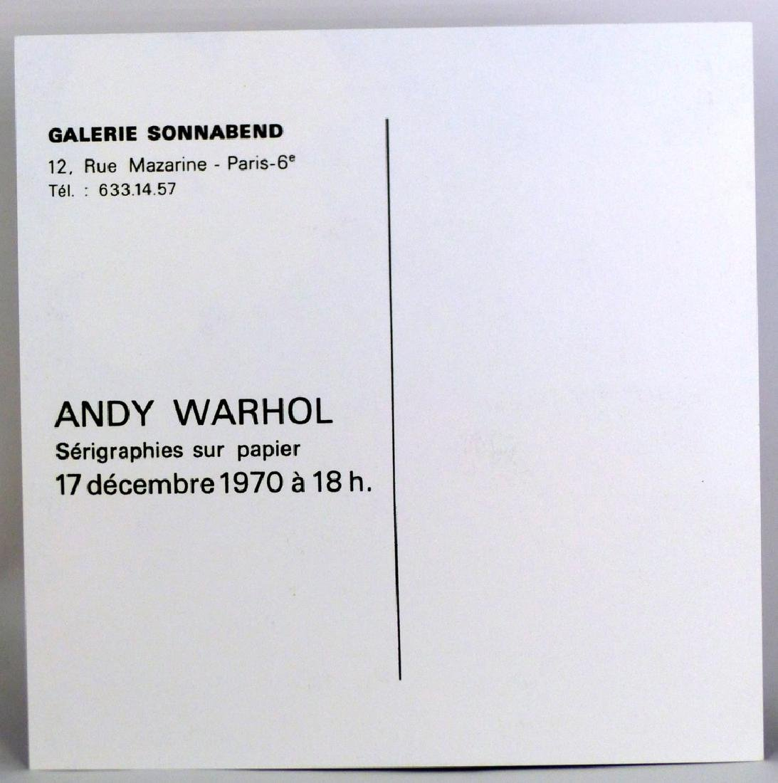 ANDY WARHOL FLOWERS INVITATION SONNABEND - 2