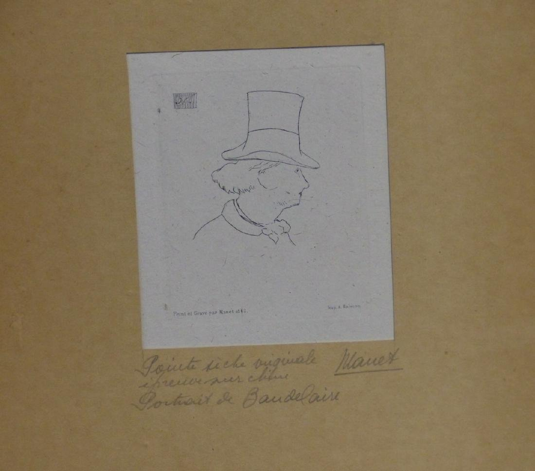 EDOUARD MANET ETCHING 'CHARLES BAUDELAIRE' - 2