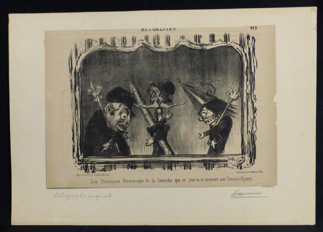 HONORE DAUMIER 'ACTUALITIES' LITHOGRAPH
