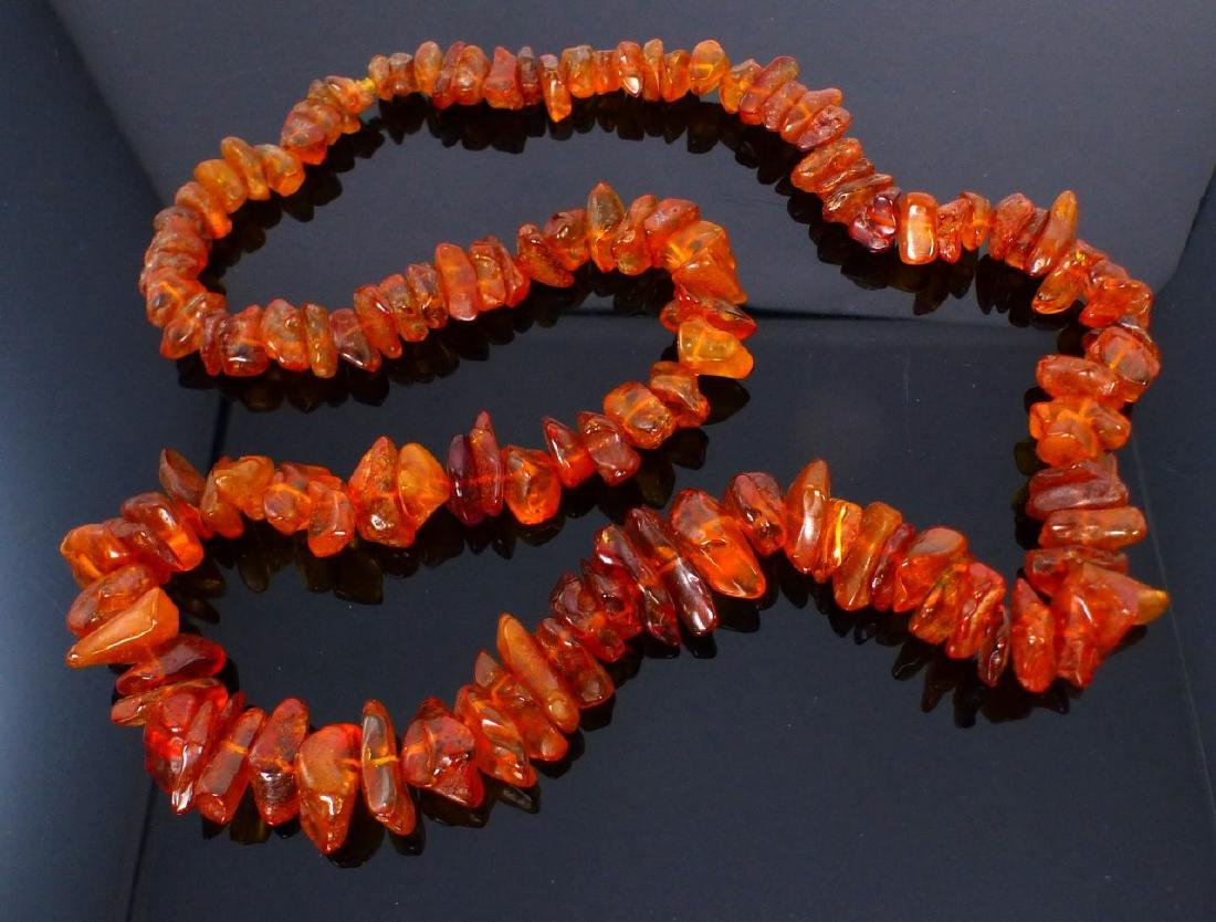 AMBER BEADED NECKLACE - 2