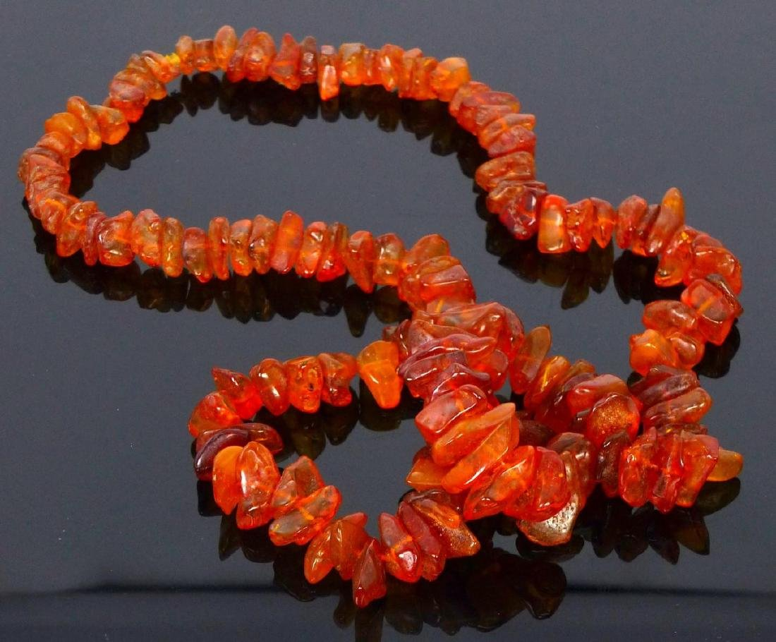 AMBER BEADED NECKLACE - 4
