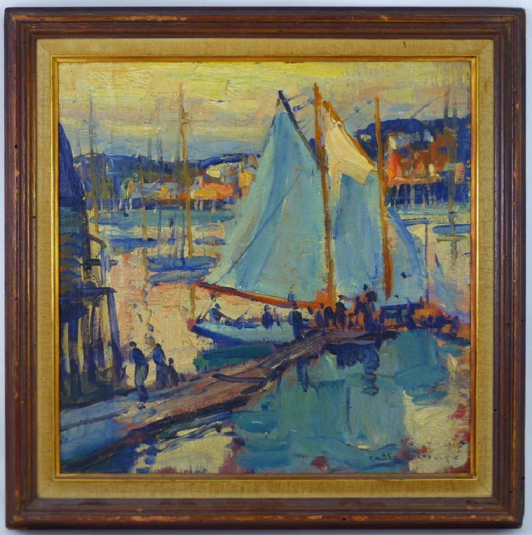 EMILE GRUPPE OIL PAINTING ON BOARD