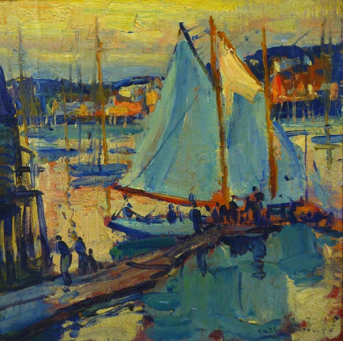 EMILE GRUPPE OIL PAINTING ON BOARD - 2