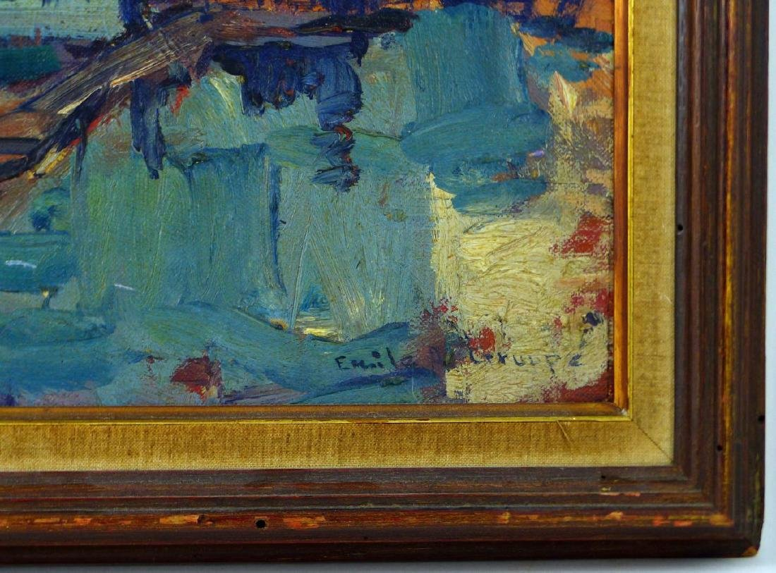 EMILE GRUPPE OIL PAINTING ON BOARD - 3