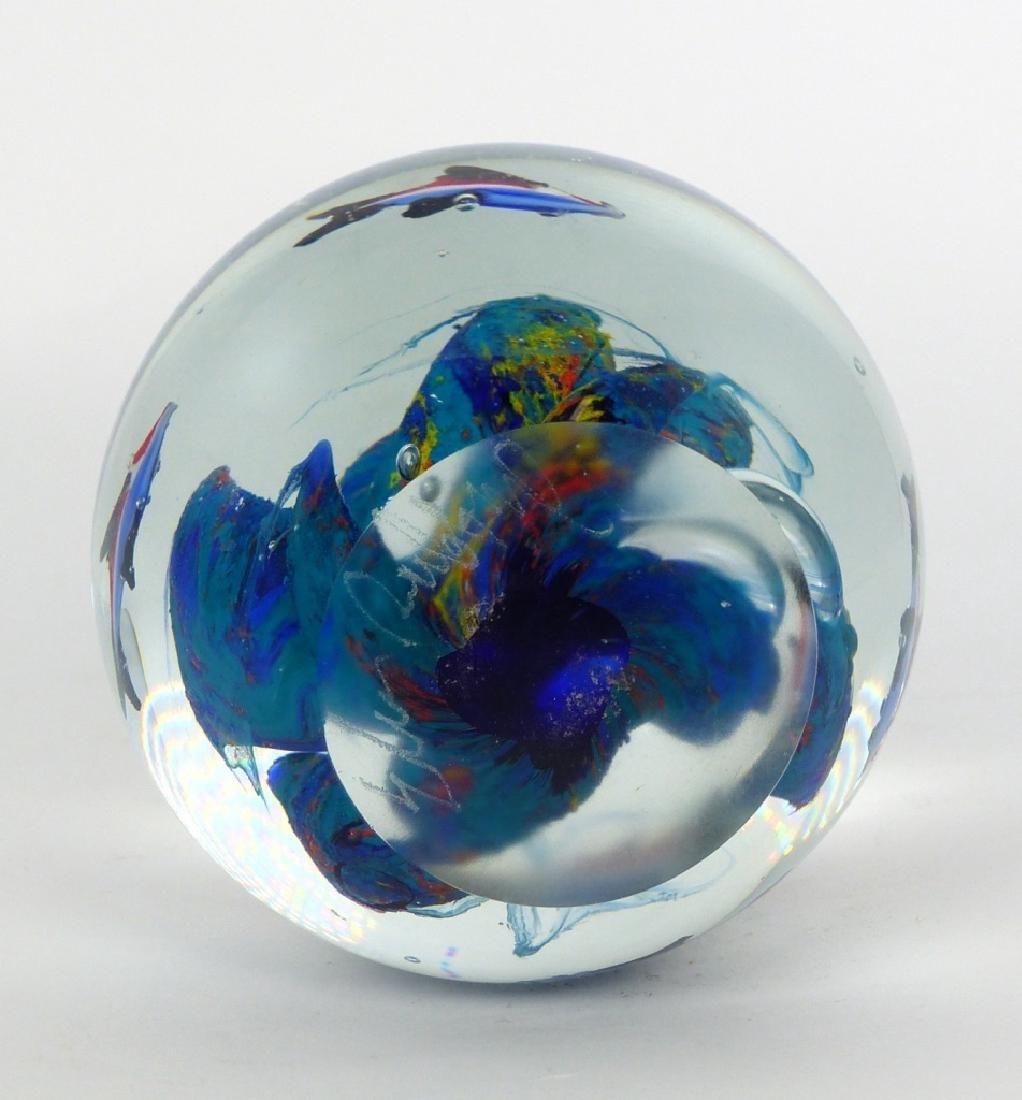 ELIO RAFFAELI MURANO GLASS AQUARIUM PAPERWEIGHT - 8
