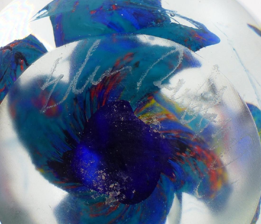 ELIO RAFFAELI MURANO GLASS AQUARIUM PAPERWEIGHT - 9