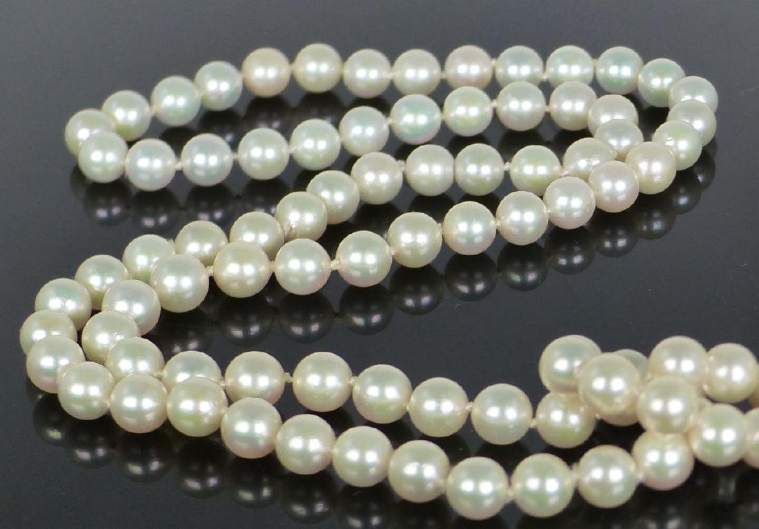 """PEARL NECKLACE 35"""" - 3"""
