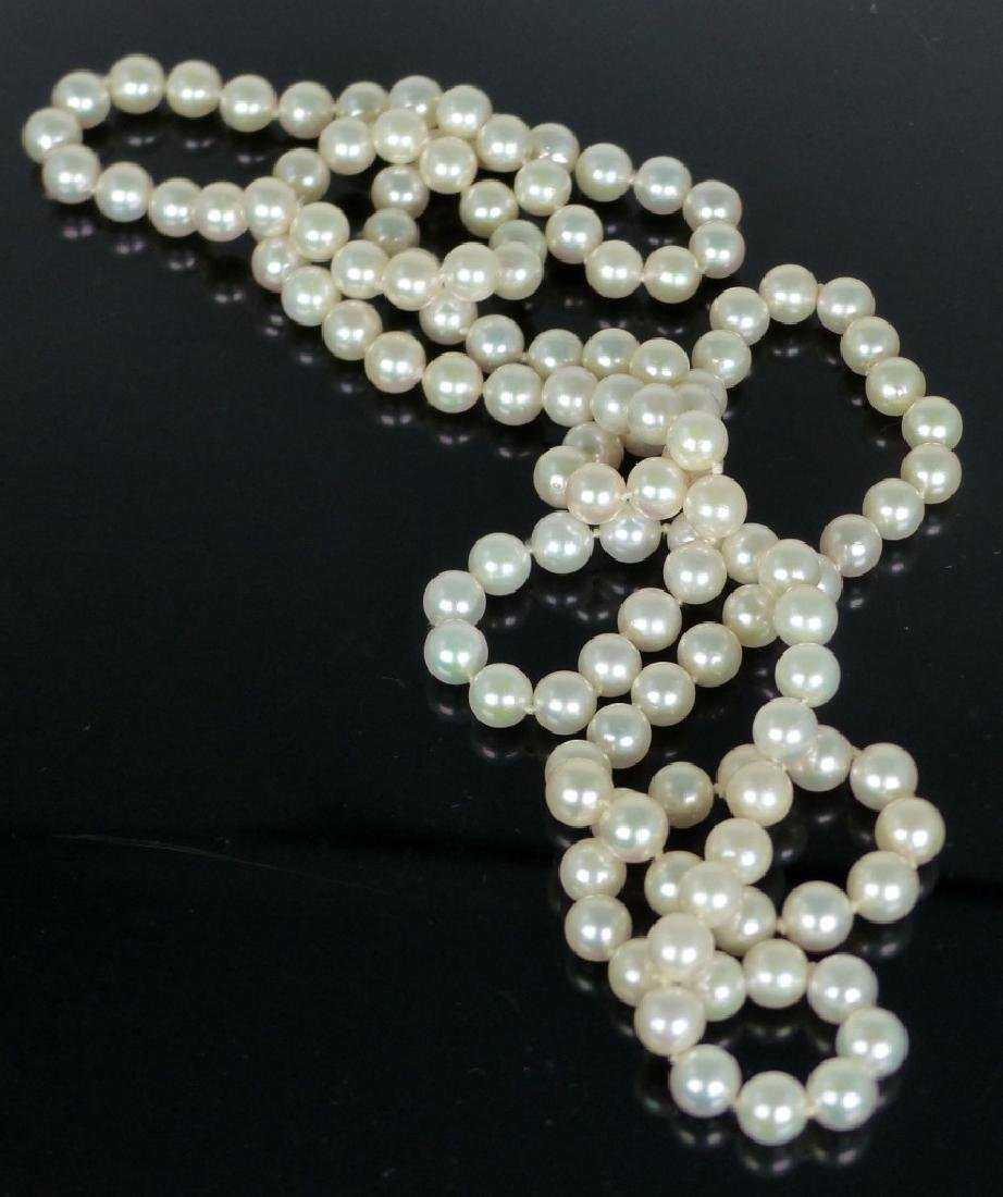 """PEARL NECKLACE 35"""" - 4"""